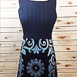 Bebe Blue printed dress